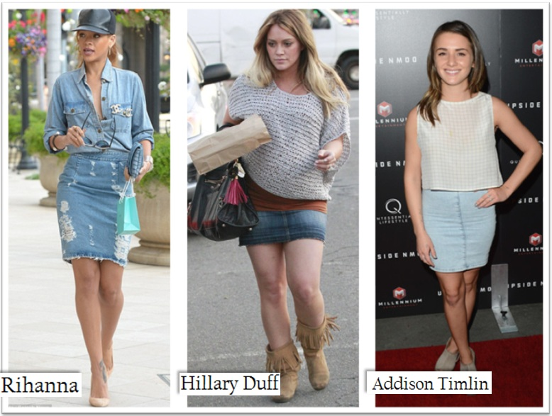 REVISITING DENIM SKIRTS