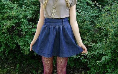Go Bold With a Stylish Denim Skirt