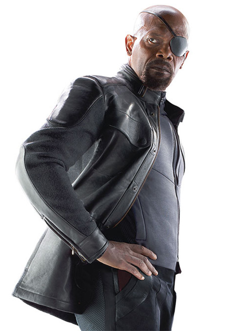 Avengers Age of Ultron Nick Fury Leather Jacket