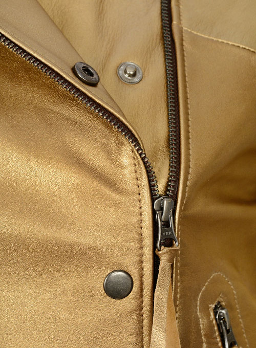 Golden Leather Jacket # 288