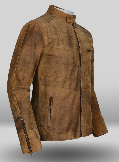 Heritage Brown Leather Cycle Jacket #3