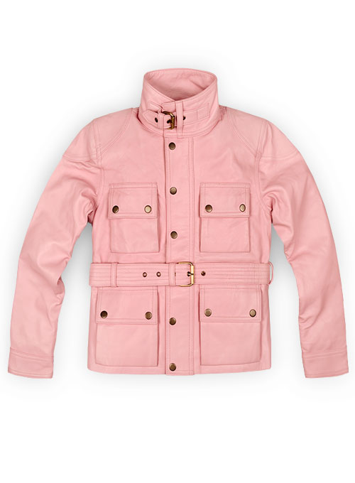 Light Pink Leather Jacket # 286