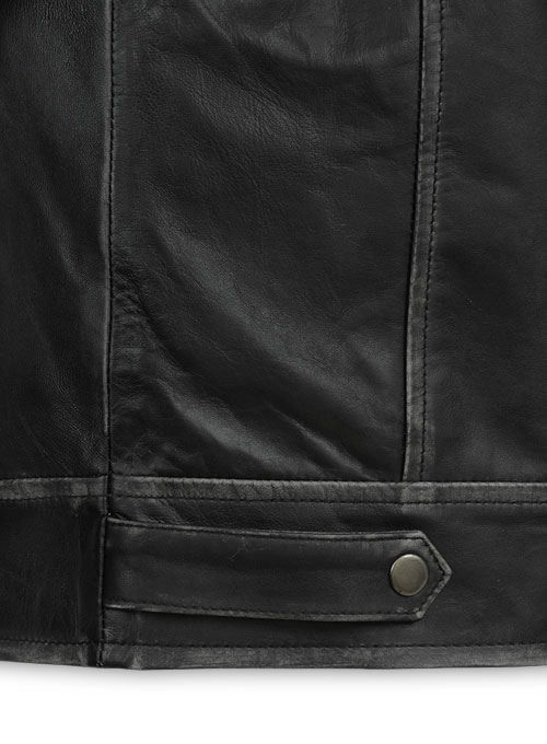 Ontario Rubbed Black Leather Jacket