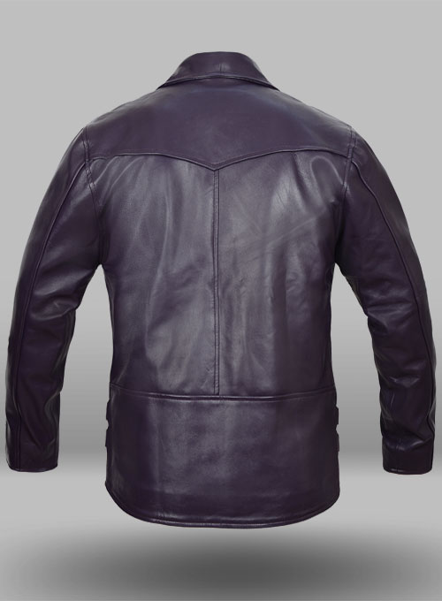 Purple Leather Jacket # 903