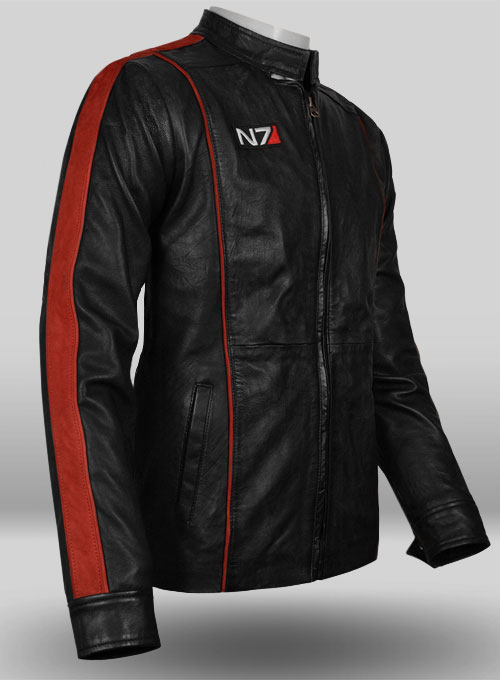 Soft Rich Black Washed & Wax Mass Effect 3 Leather Jacket