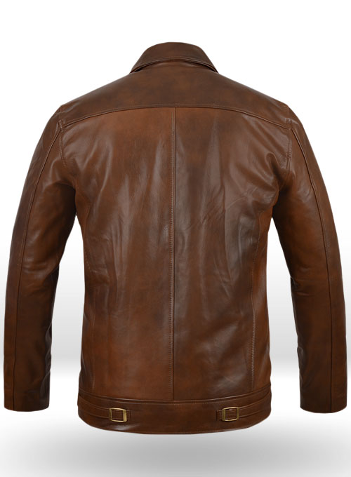 Spanish Brown The Expendables 2 Jason Satham Leather Jacket