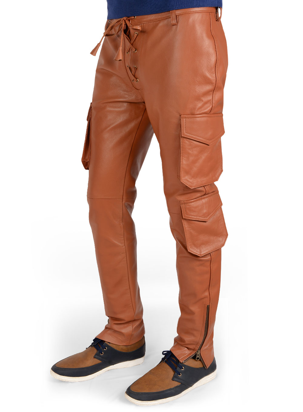 Terrain Brown Drifter Leather Cargo Pants