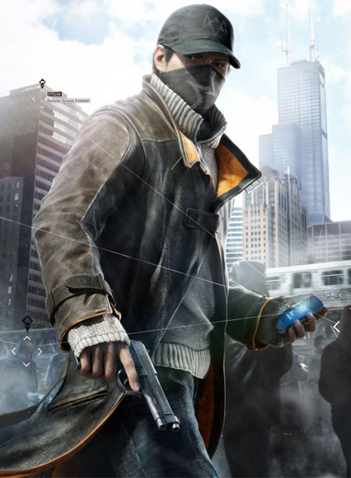 Aiden Pearce Watch Dog Leather Trench Coat
