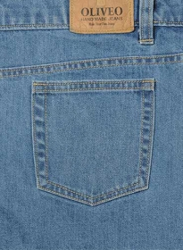 Classic Heavy Hogan Denim Jeans - Light Blue