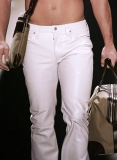 White Leather Jeans
