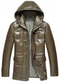 Leather Hood Jacket # 636