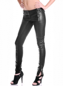 Leather Biker Jeans - Style #502