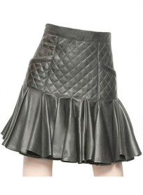 Rock n Roll Flare Leather Skirt - # 471
