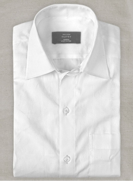 Italian Voile Cotton White Shirt - Full Sleeves
