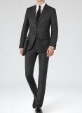 Worsted Wool Suits - Smooth Finish - 4 Colors