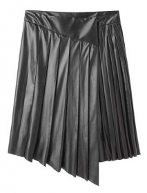 Asymmetrical Leather Skirt - 50 Colors