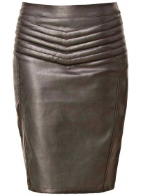 Front Yoke Leather Skirt - # 454
