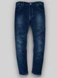 Indigo Corduroy Stretch Jeans - Treated Hard Wash