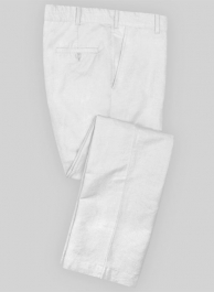 White Safari Cotton Linen Pants