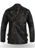 Leather Biker Jacket #444