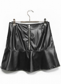 Luster Leather Skirt - # 166