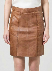Varsity Leather Skirt - # 432