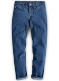 Classic Heavy Blue Jeans - Stone-X Wash