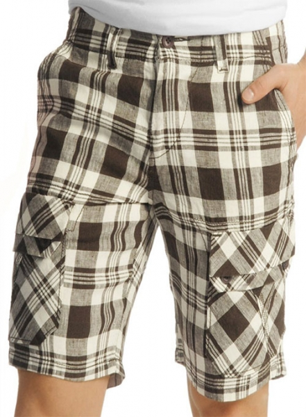 Madras Plaid - Light Weight Cargo Shorts # 551