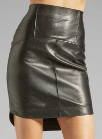 Aura Leather Skirt - # 408