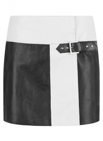 Devore Leather Skirt - # 479