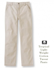 Tropical Weight Fine Tussar Cotton Pants