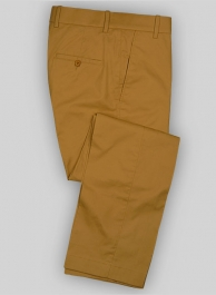 Summer Weight Dark Khaki Formal Chinos