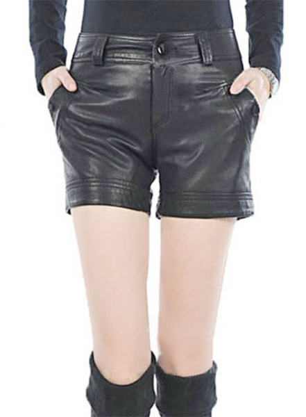 Leather Cargo Shorts Style # 367