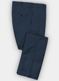 Blue Safari Cotton Linen Pants