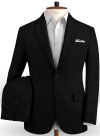 Safari Black Cotton Linen Suit