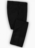 Black Safari Cotton Linen Pants