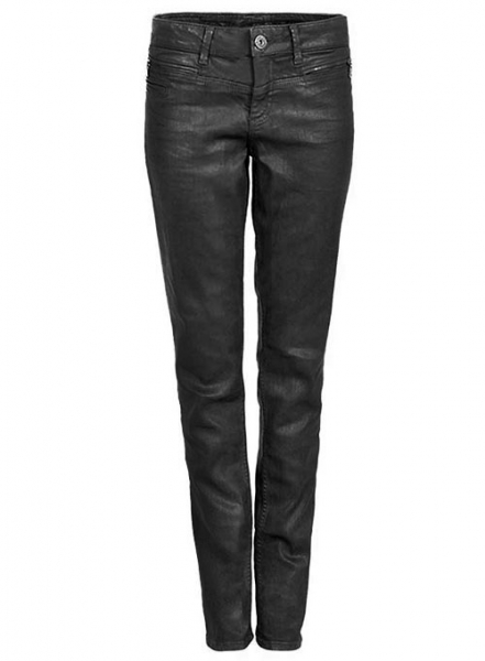 Angular Leather Pants