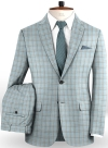 Napolean Spring Blue Wool Suit