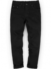 Heavy Jet Black Overdyed Jeans - 14.5 oz Denim