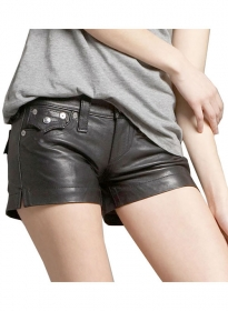 Leather Cargo Shorts Style # 356