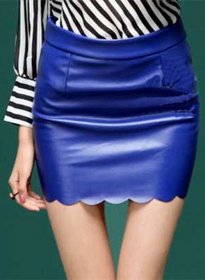 Lazer Leather Skirt - # 185
