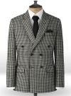 Big BW Houndstooth Tweed Double Breasted Jacket