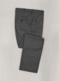 Herringbone Gray Flannel Wool Pants
