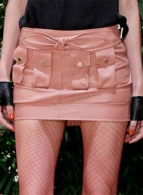 Multi Pocket Leather Skirt - # 452