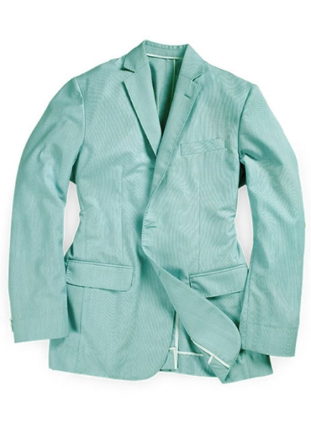 Soho Lt Blue Wool Linen Jacket - 38R