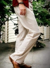 Pure Linen Drawstring Pants