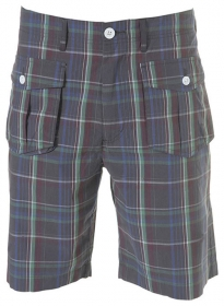 Madras Plaid - Light Weight Cargo Shorts # 550