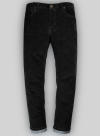 Slate Black Corduroy Stretch Jeans - Hard Wash