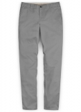 Gray Stretch Chino Pants