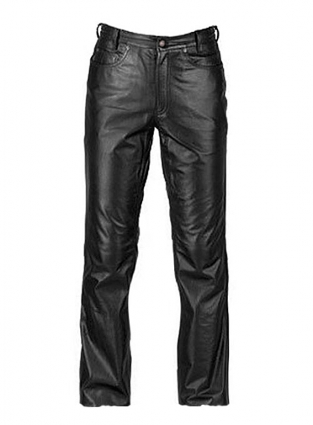 Black Leather Jeans